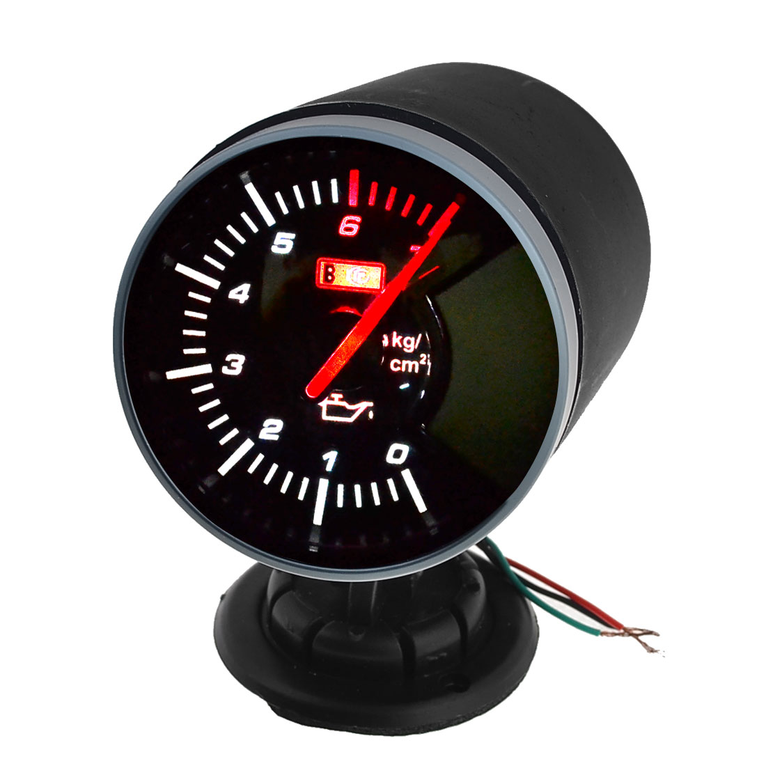 Auto 60mm Mounting Dia Mechnical Tinted Lens Oil Pressure Gauge Meter DC 12V