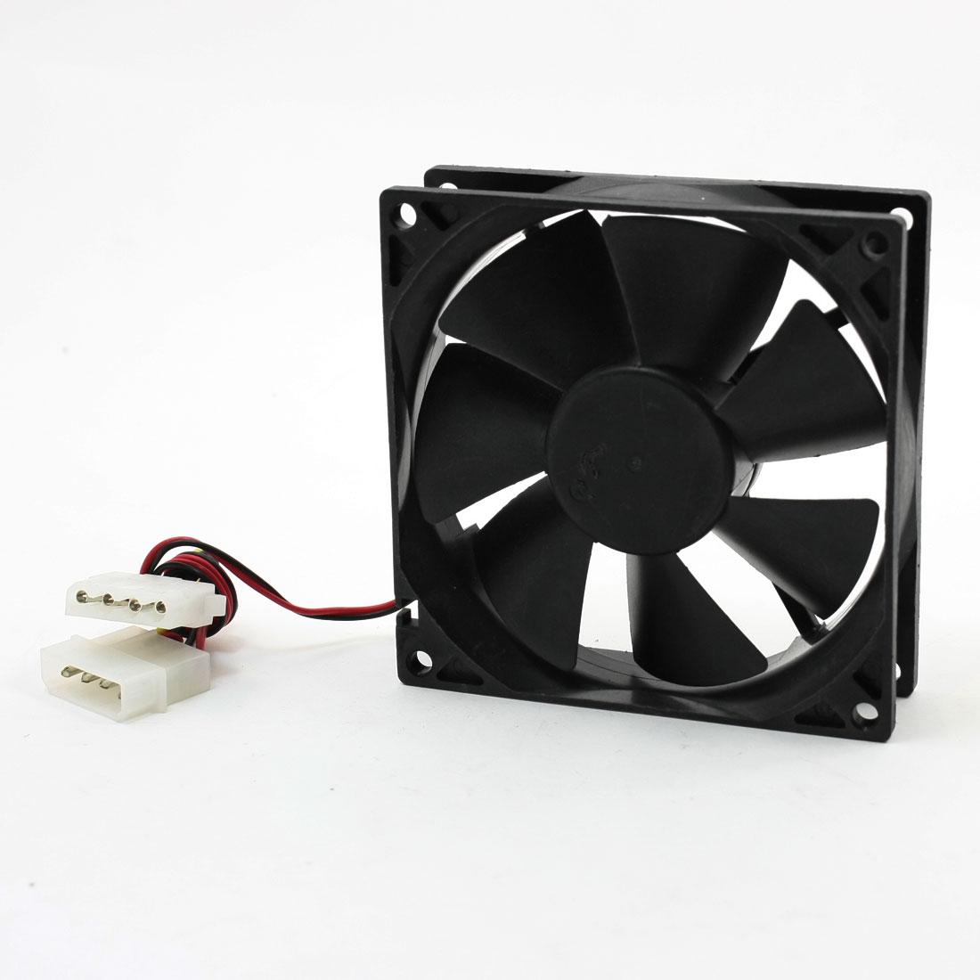 92mm x 92mm x 25mm DC 12V 4Pin Computer CPU Cooler Cooling Fan Black