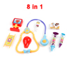 8 in 1 Colorful Plastic Needling Tube Treatment Tools Toy for Kids
