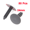 50PCS Car Auto Plastic Push Fastener Rivets Clips Gray for 7mmx7mm Hole