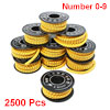 2500 Pcs PVC Number 0-9 Pattern 2.5 sq.mm Cable Markers
