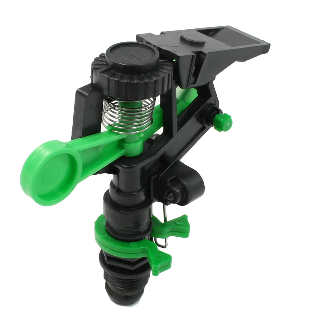 180 Degree Rotary Garden Water Sprinkler Sprayer Head Black Green