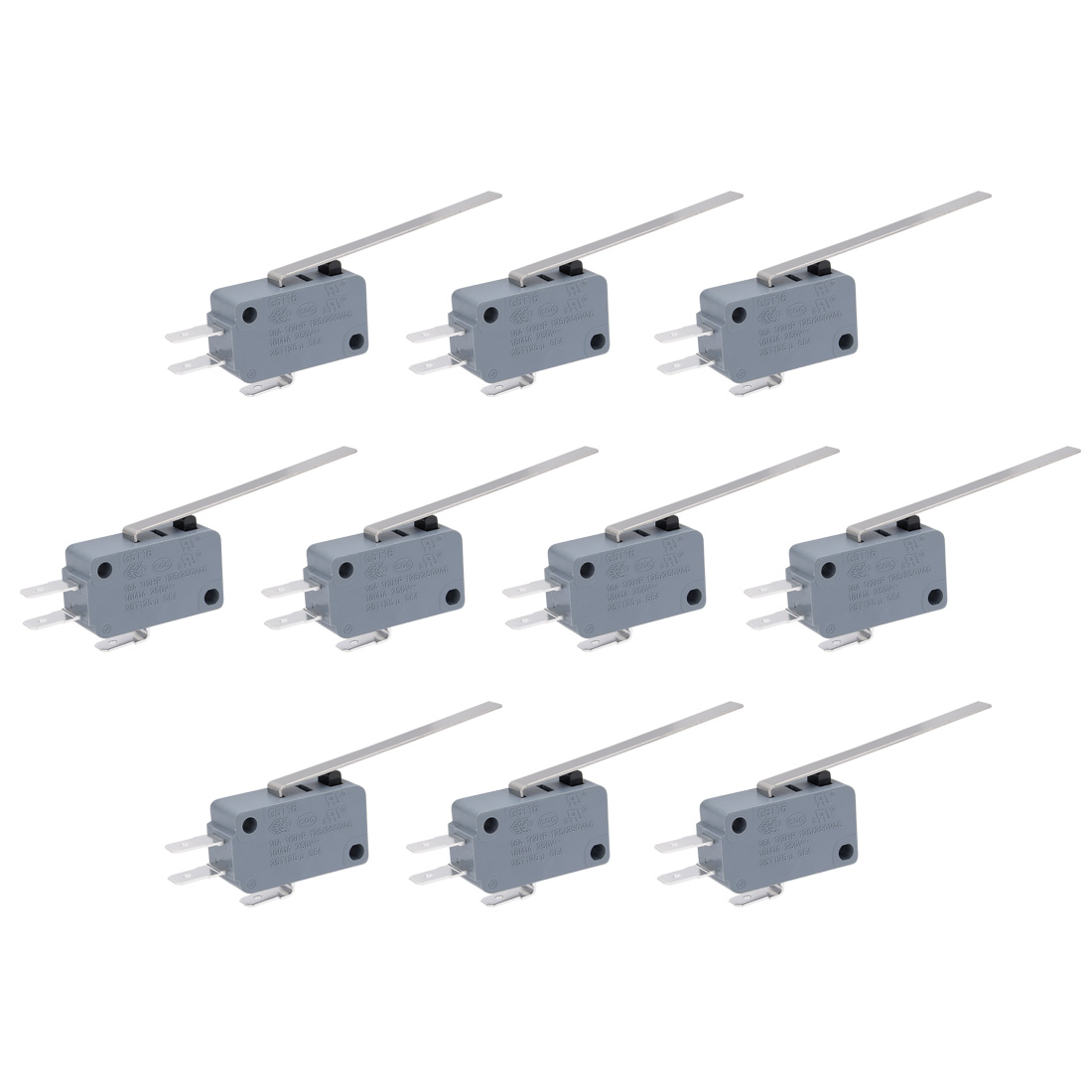 SPDT 1NO 1NC Long Straight Hinge Lever Momentary Actuator Micro Switch 5 Pcs