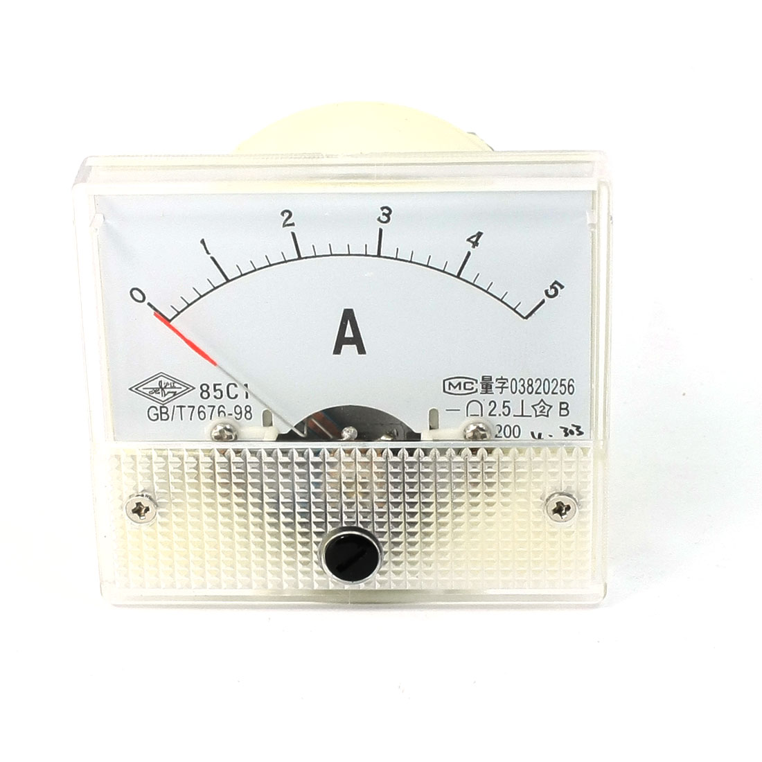 DC 0-5A Clear Cover Dial Analog Panel Ammeter Gauge