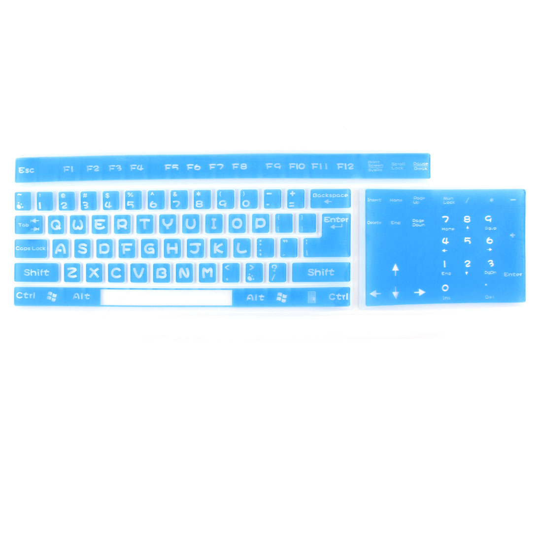Universal Soft Silicone Keyboard Cover Skin Protector Film Blue for Computer