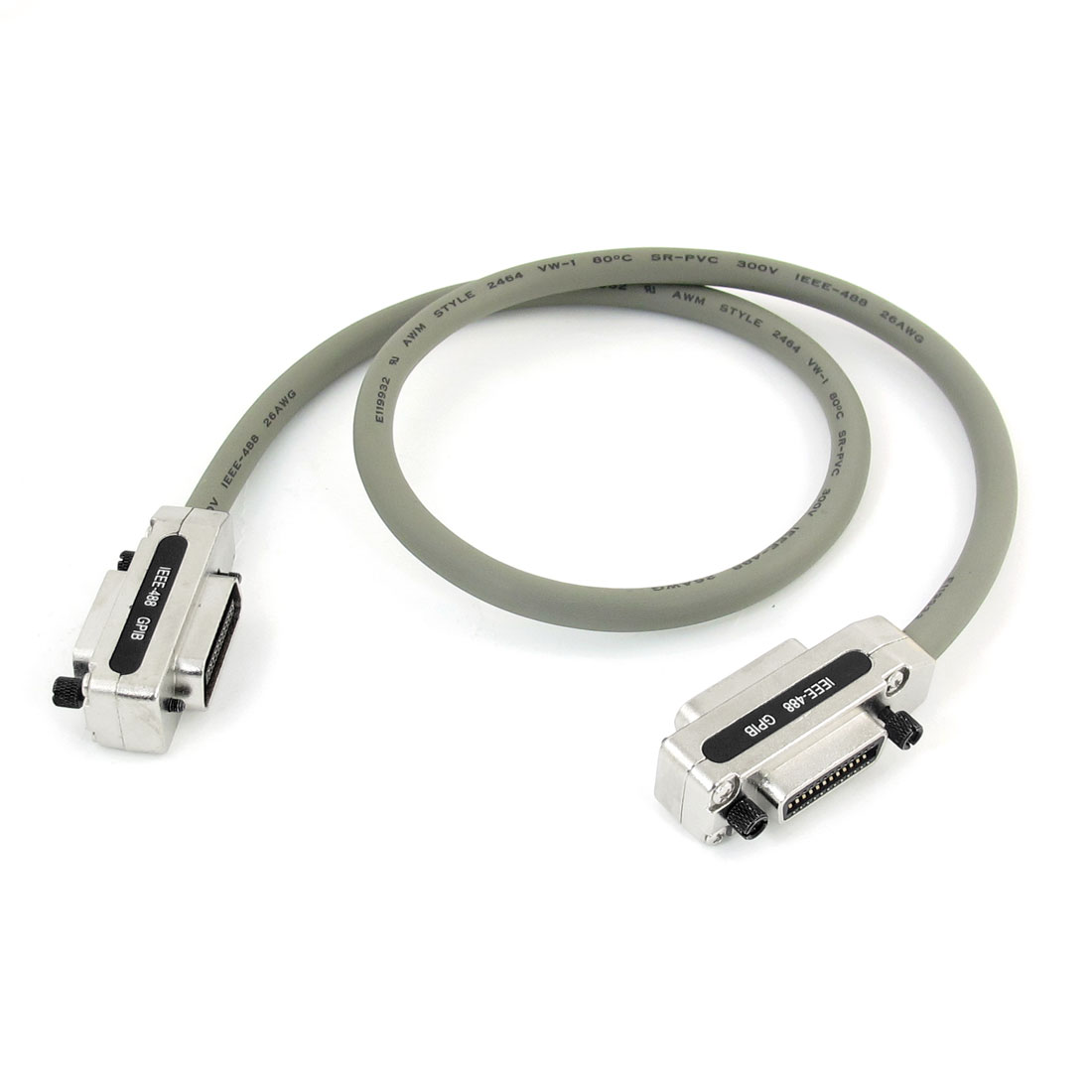 1 Meter Length Gray IEEE-488 GPIB Connector Extension Cable