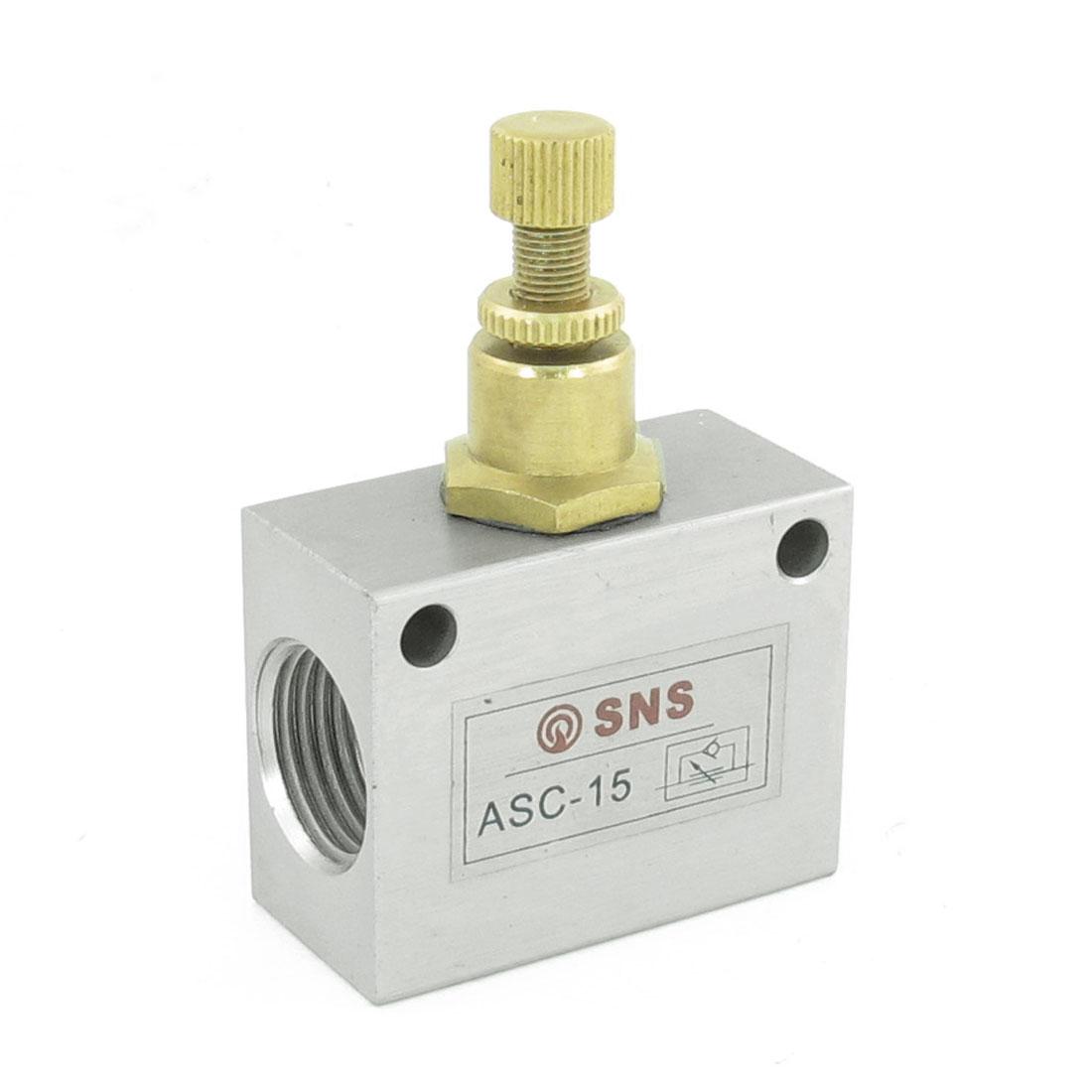 "G1/2"" One Way Throttle Pneumatic Flow Control Valve ASC-15"