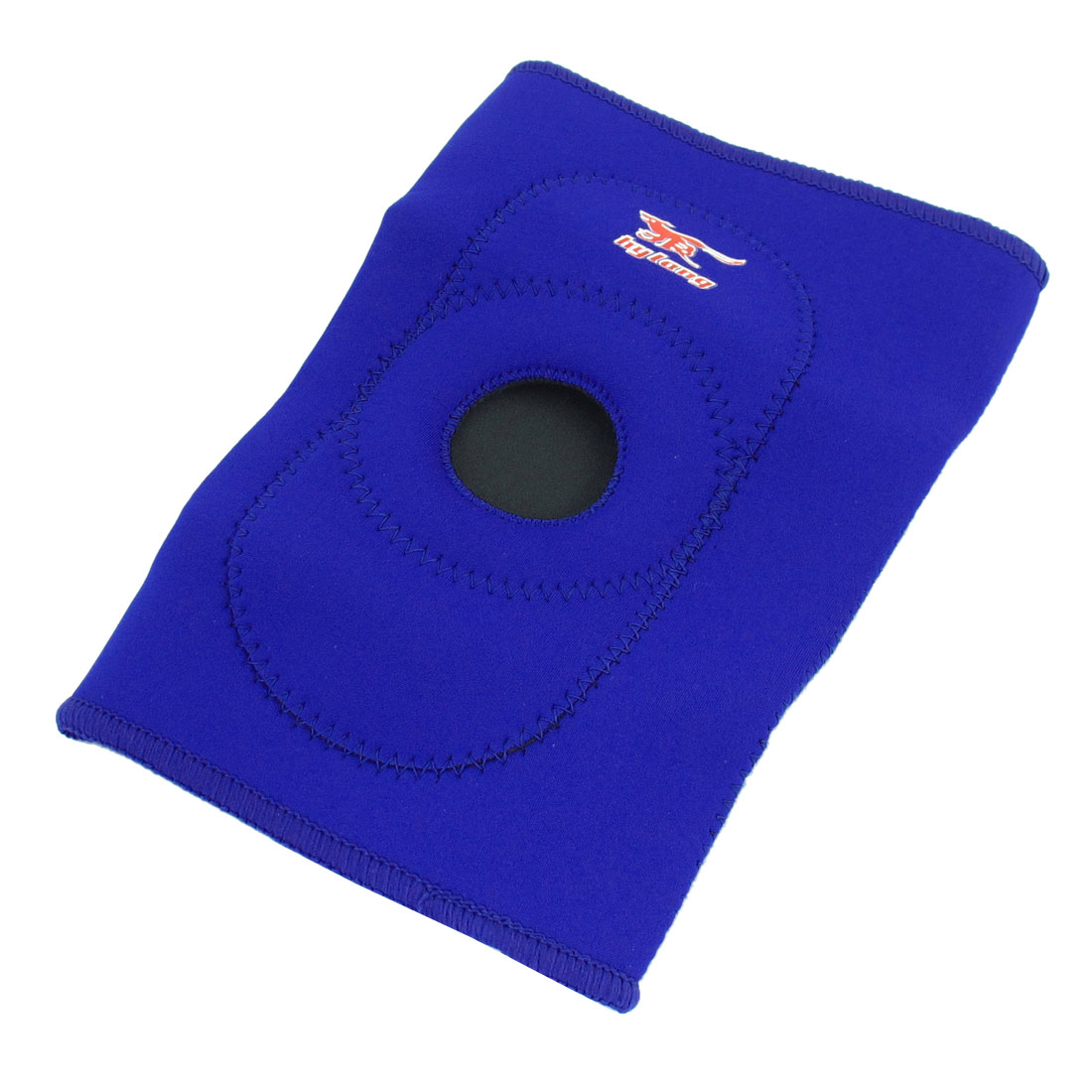 Blue Neoprene Hole Design Pullover Sport Basketball Knee Support Brace
