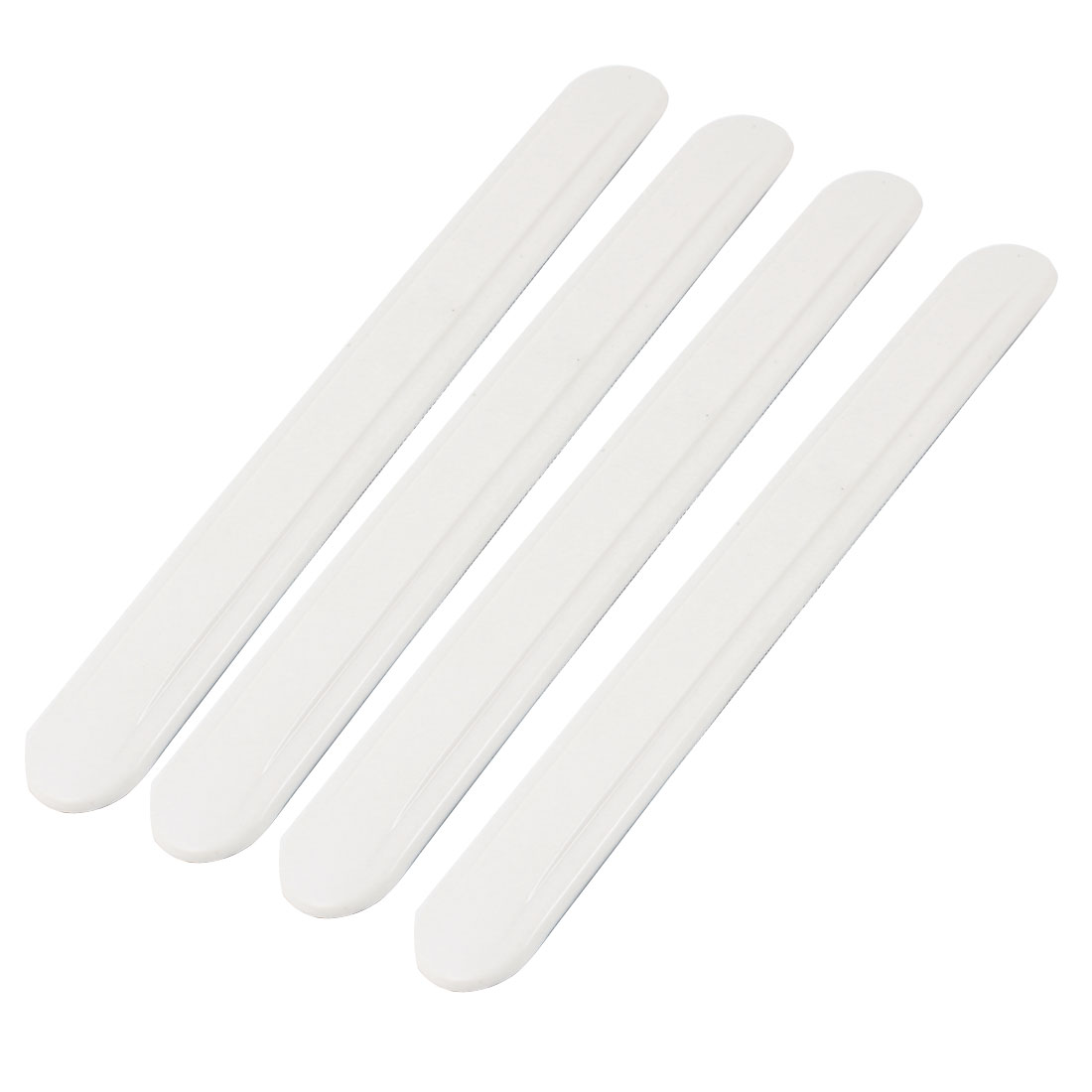White Soft Plastic Car Body Door Bumper Shock Protector Guard x 4