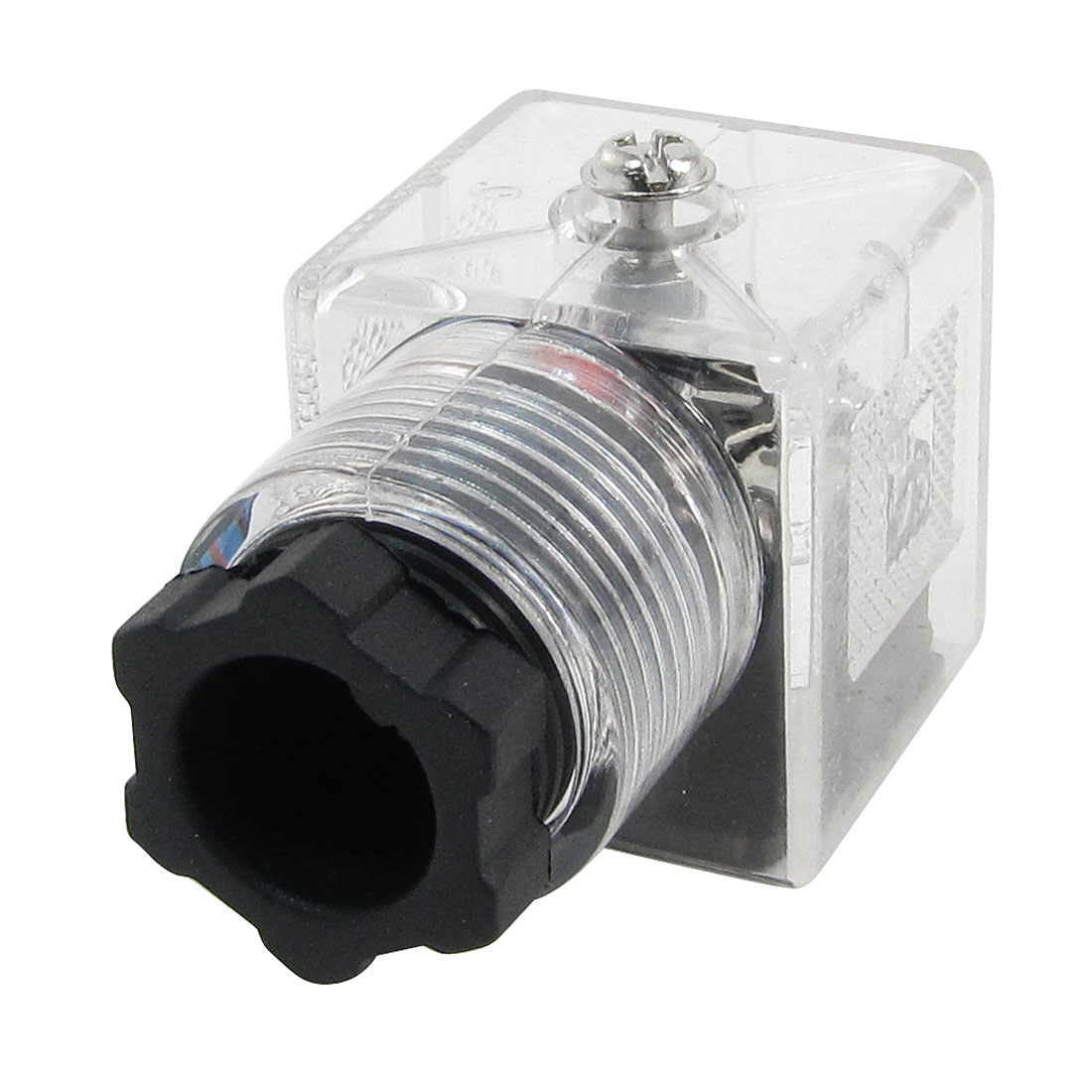 Plastic Shell 3 Terminals DIN LED Solenoid Valve Connector 220VAC