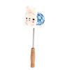 Flower Pattern Fabric Decor Rabbit Shape Plush Tip Spring Connect Massage Bar