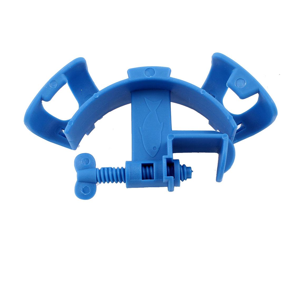 Blue Hard Plastic Hose Holder for Fish Tank Mount Tube