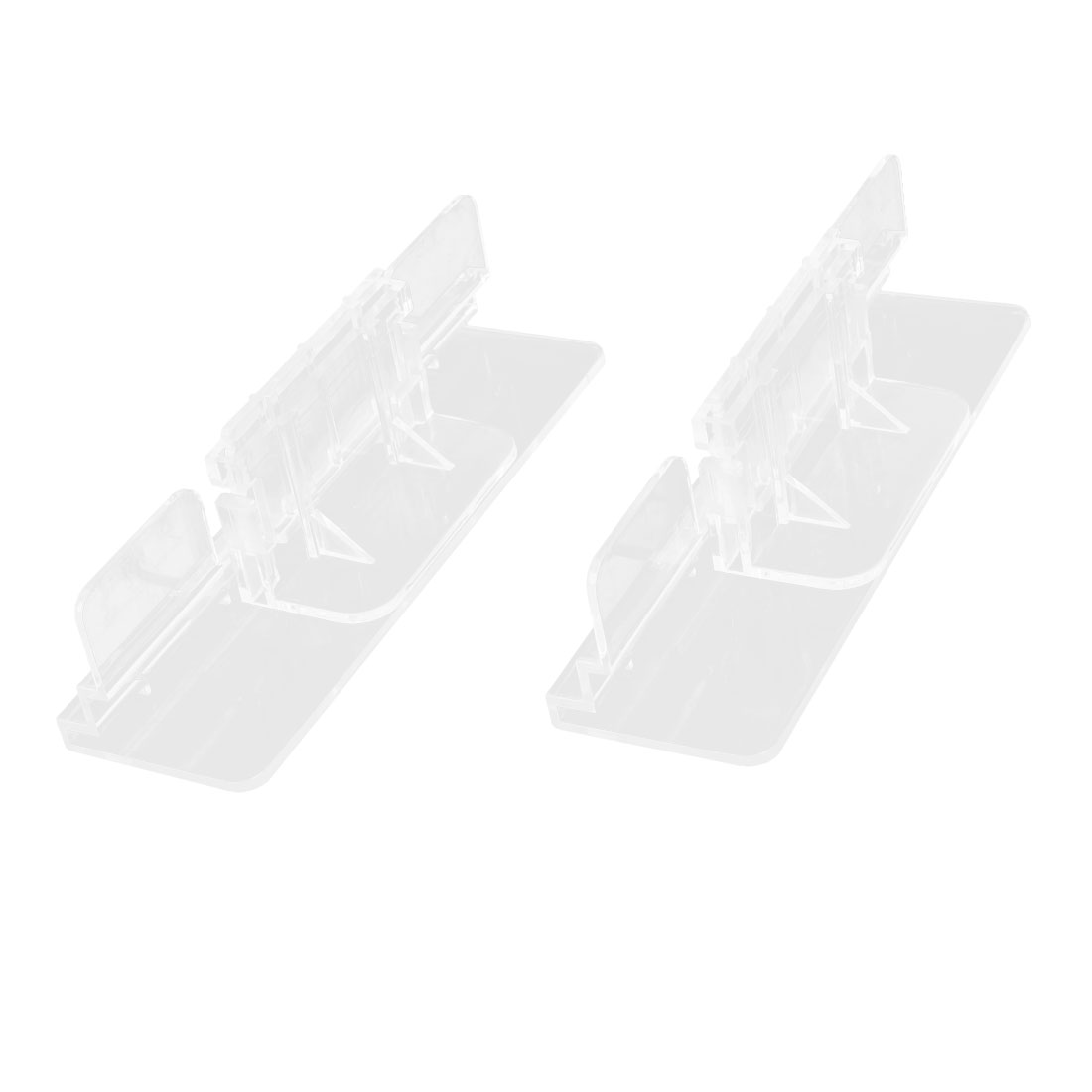 2 Pieces Clear Plastic Fish Tank Cover Clip for 4-12mm Glass Thickness