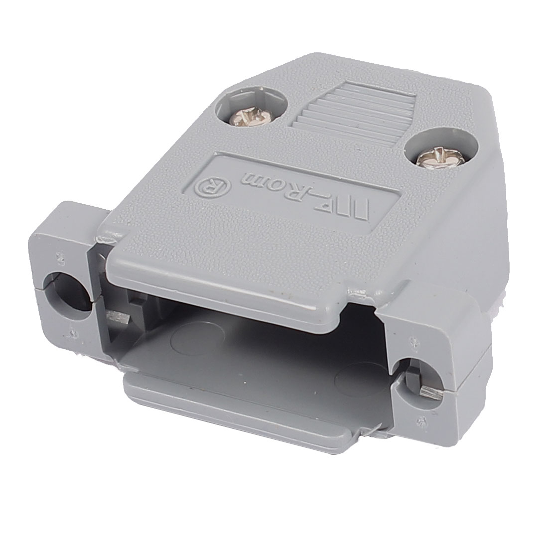 Gray Plastic Double Row DB15 Male Female Connector Hood Shell Cover w Screws