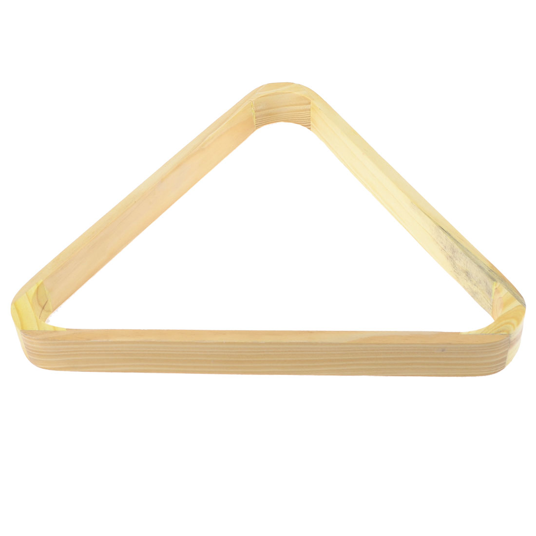 Games Billiards Pool Table Eight Ball Wooden Triangle Rack Beige 30x30cm