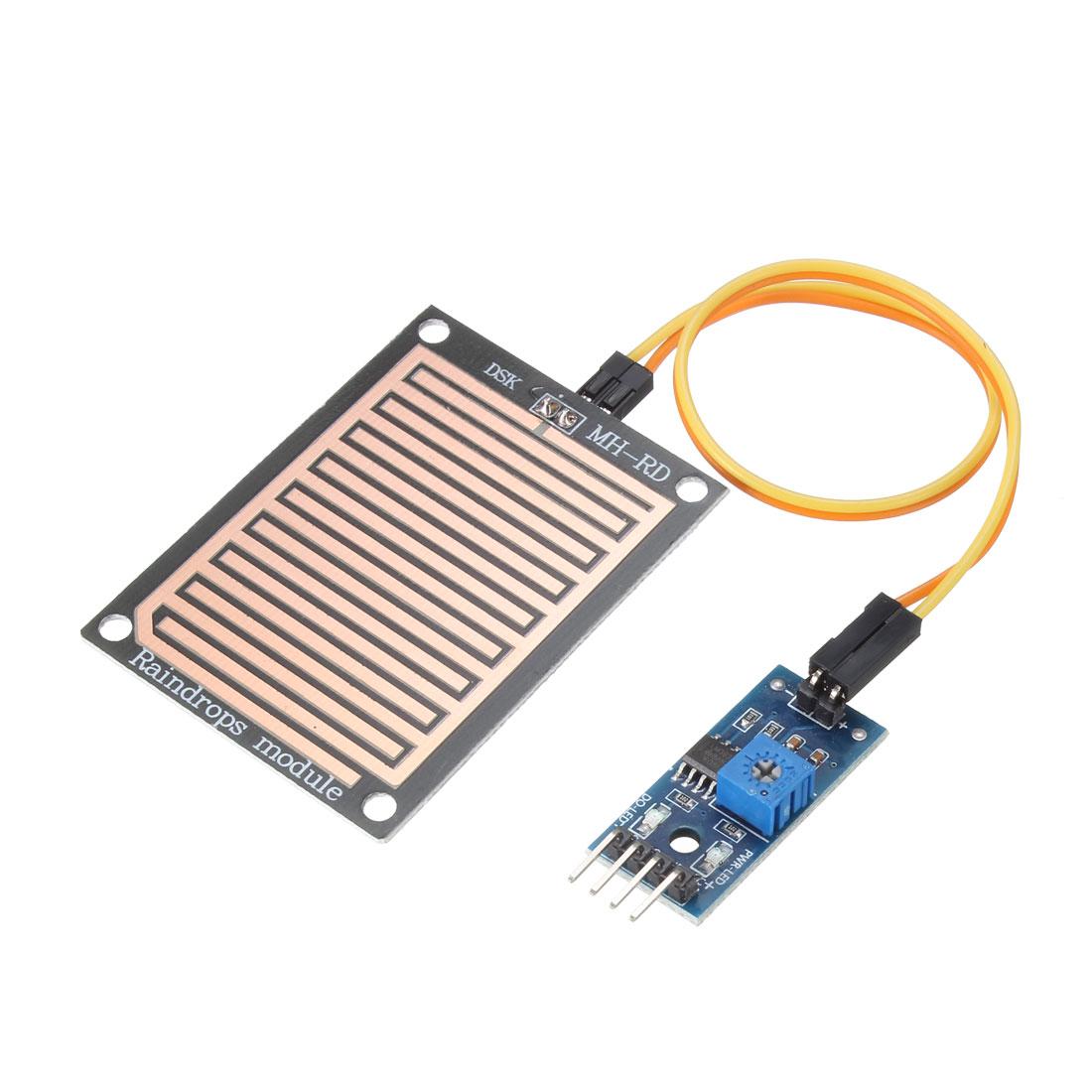 2 Pcs Rain Water Sensor Rainwater Module Rain Moisture Detection Module 3.3V-5V