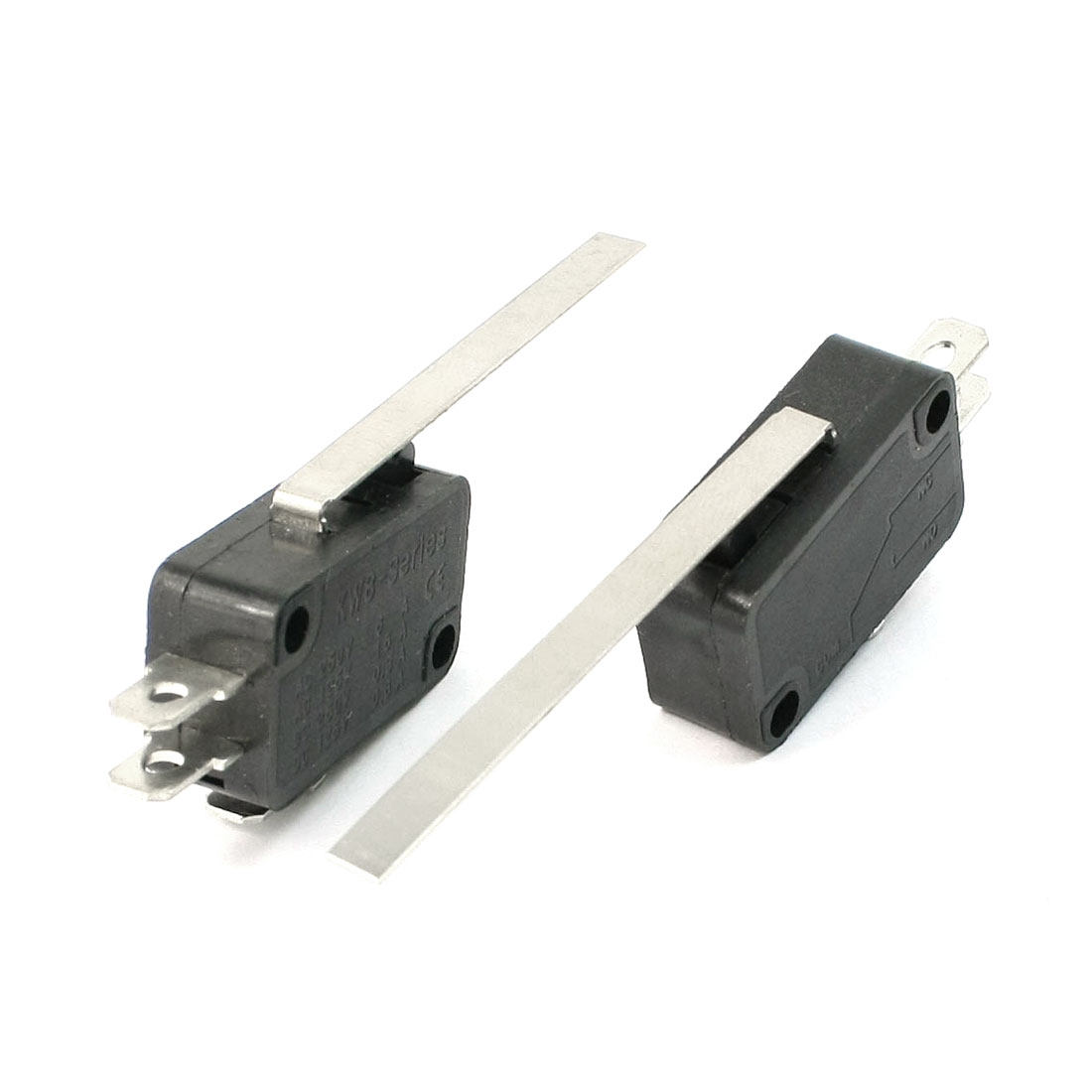 2PCS SPDT 3 Terminal Long Straight Hinge Lever Momentary KW8-Series Micro Switch