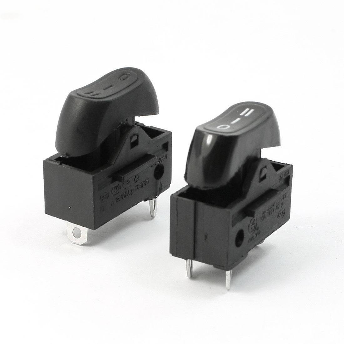 AC 250V 10A SPDT 3 Poles 3 Position Terminals Rocker Switch Pair for Hair Drier