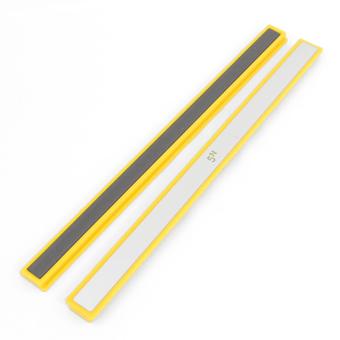"2pcs Whiteboard 7.8"" Long Magnetic Stripes Fixed File Tool Yellow"