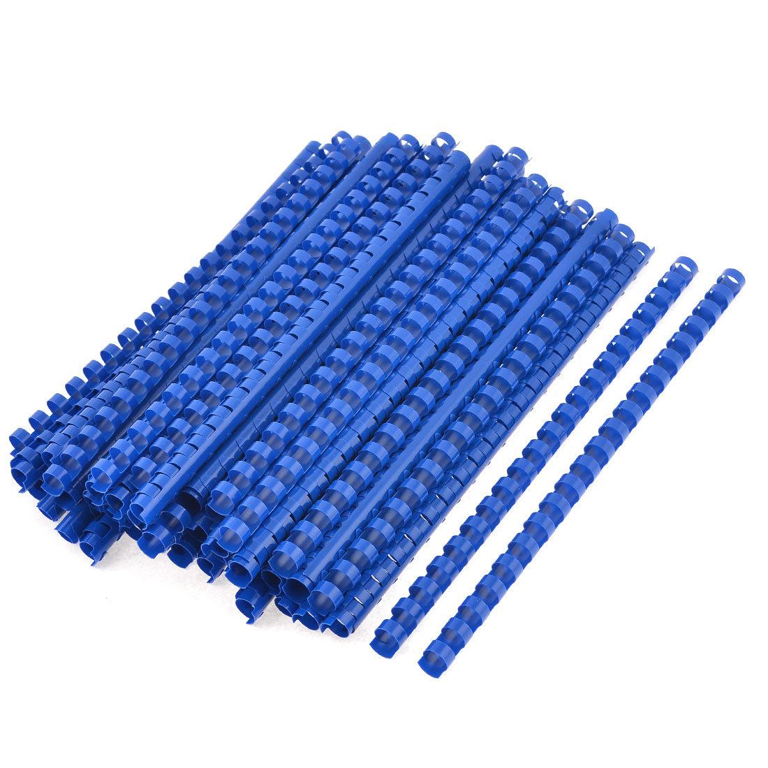 100 Pcs Office Blue Plastic 8mm Dia 21 Rings Spines Binding Combs