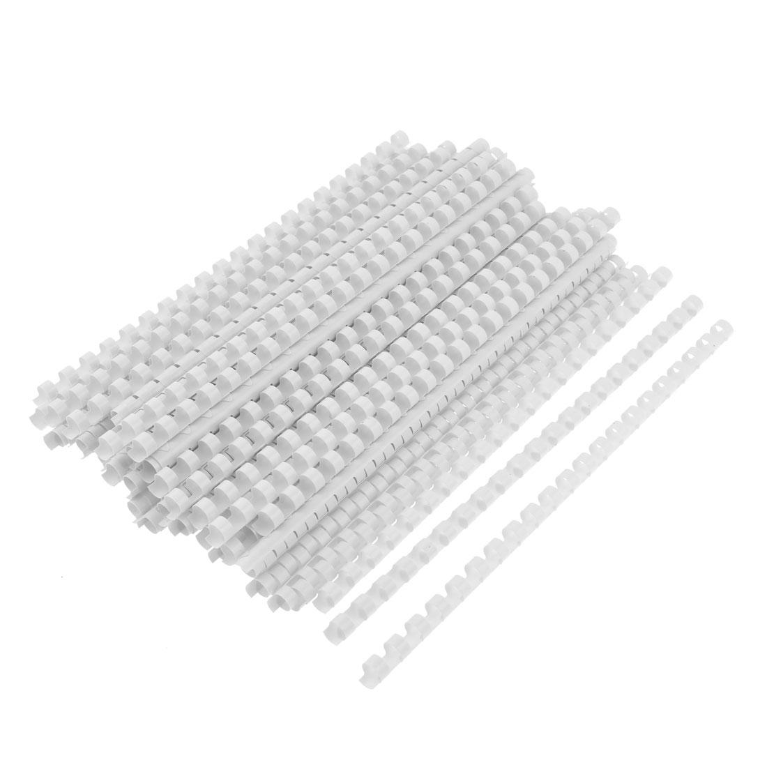 "Office Stationery Plastic Binding Combs 11.6"" Length White Ring Dia 10mm 100pcs"