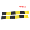 10pcs Black Yellow Reflective Self Adhesive Warning Tape Sticker Decal for Car