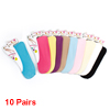 Assorted Color Stretchy No Show Low Cut Footsie Boat Socks 10 Pairs for Lady