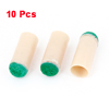 Green Beige Plastic 10mm Dia Cylindrical Billiards Stick Pole Tips 10Pcs