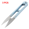 3 Pcs Tailor Craft Yarn Spring Scissors Stitch Shear Sewing Tool Light Blue