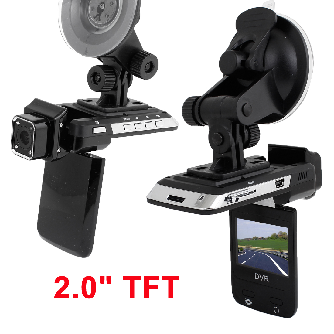 "2.0"" TFT Car Auto Dash Dashboard Camera Cam Accident Recorder DVR"
