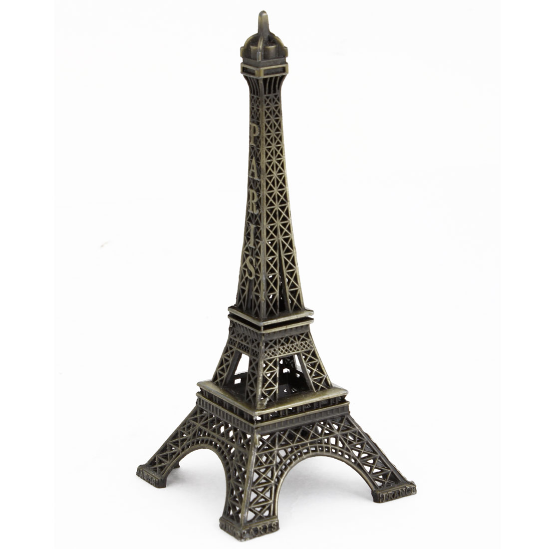 Metal Bronze Tone Eiffel Tower Design Toy Construction Model Desk Decoration