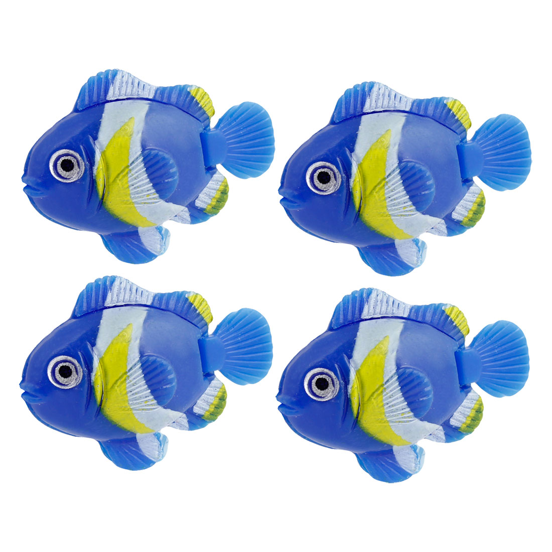 4 Pcs Colorful Plastic Swing Tail Fish Aquarium Tank Ornament Decor