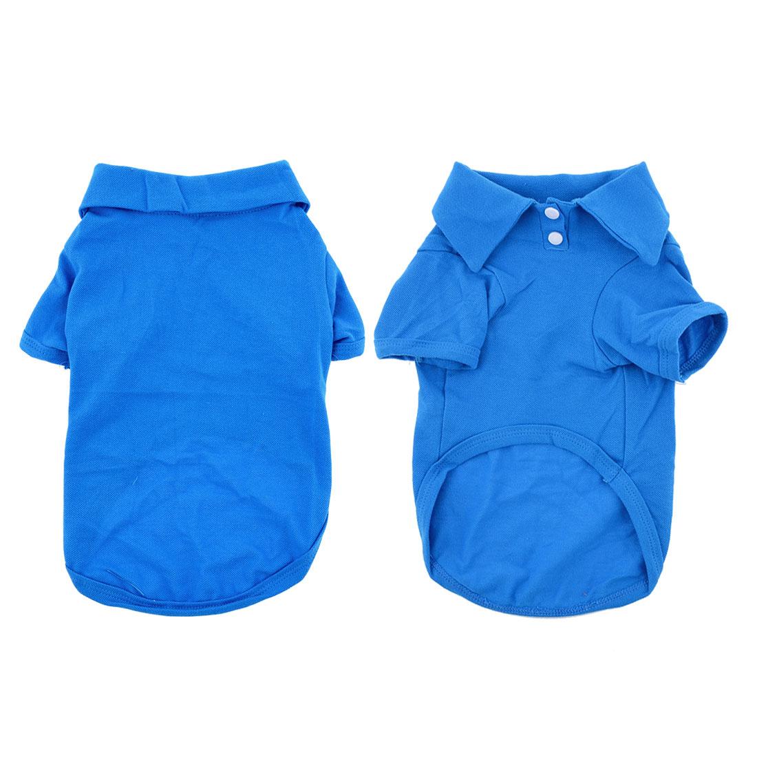 Doggy Dog Pet Clothing Summer Short Sleeves Shirt Royal Blue M