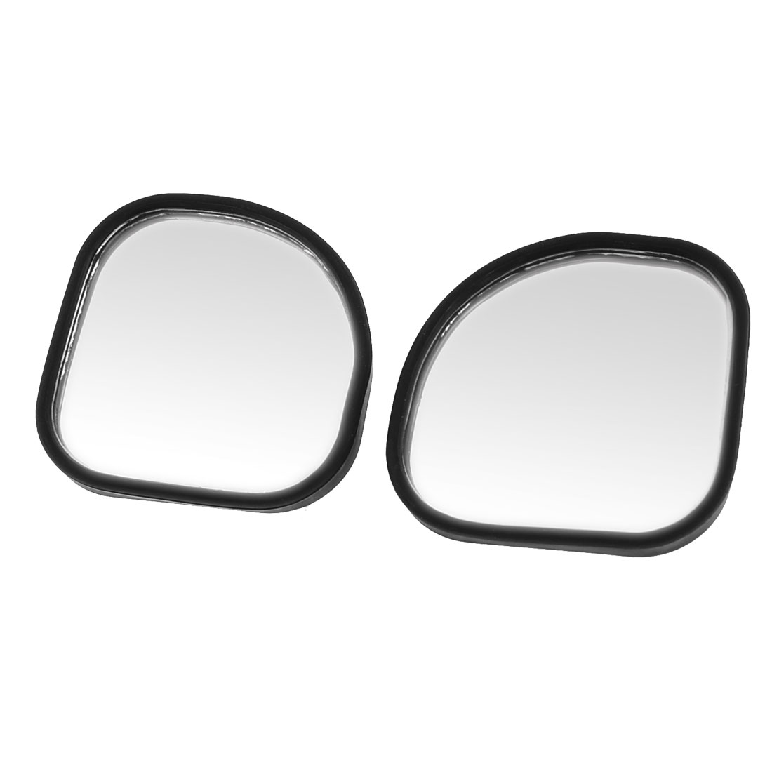 Car Automobile Black Plastic Shell Side Rear View Blind Spot Mirror 2PCS