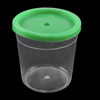 Clear Green Plastic Round Shape Candy Pot Cups w Cover