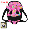 Black Pink Heart Pattern Dog Pet Travel Backpack Carry Bag Tote M