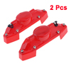 2 Pcs Auto Car Pair Red Plastic Brake Caliper Cover Kit