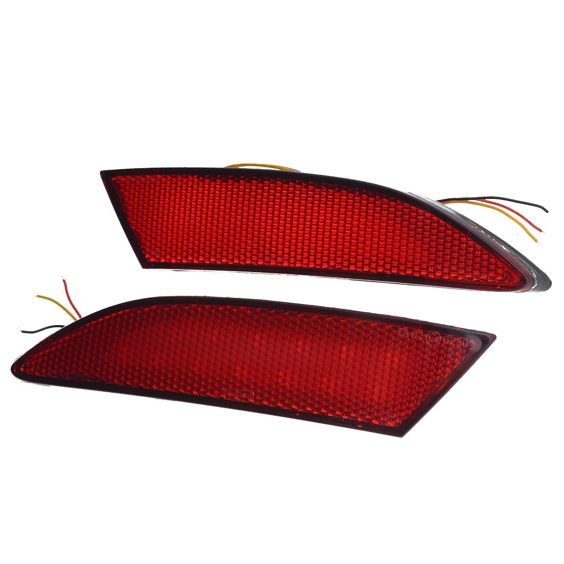 2PCS Car Plastic Rear Bumper Red Reflector LED Brake Light for Ford Focus 2012
