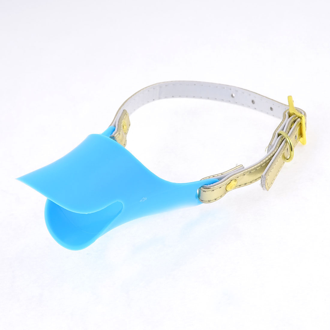 Blue Plastic Pet Dog Doggie Duckbill Style Anti Bite Sleeve Muzzle