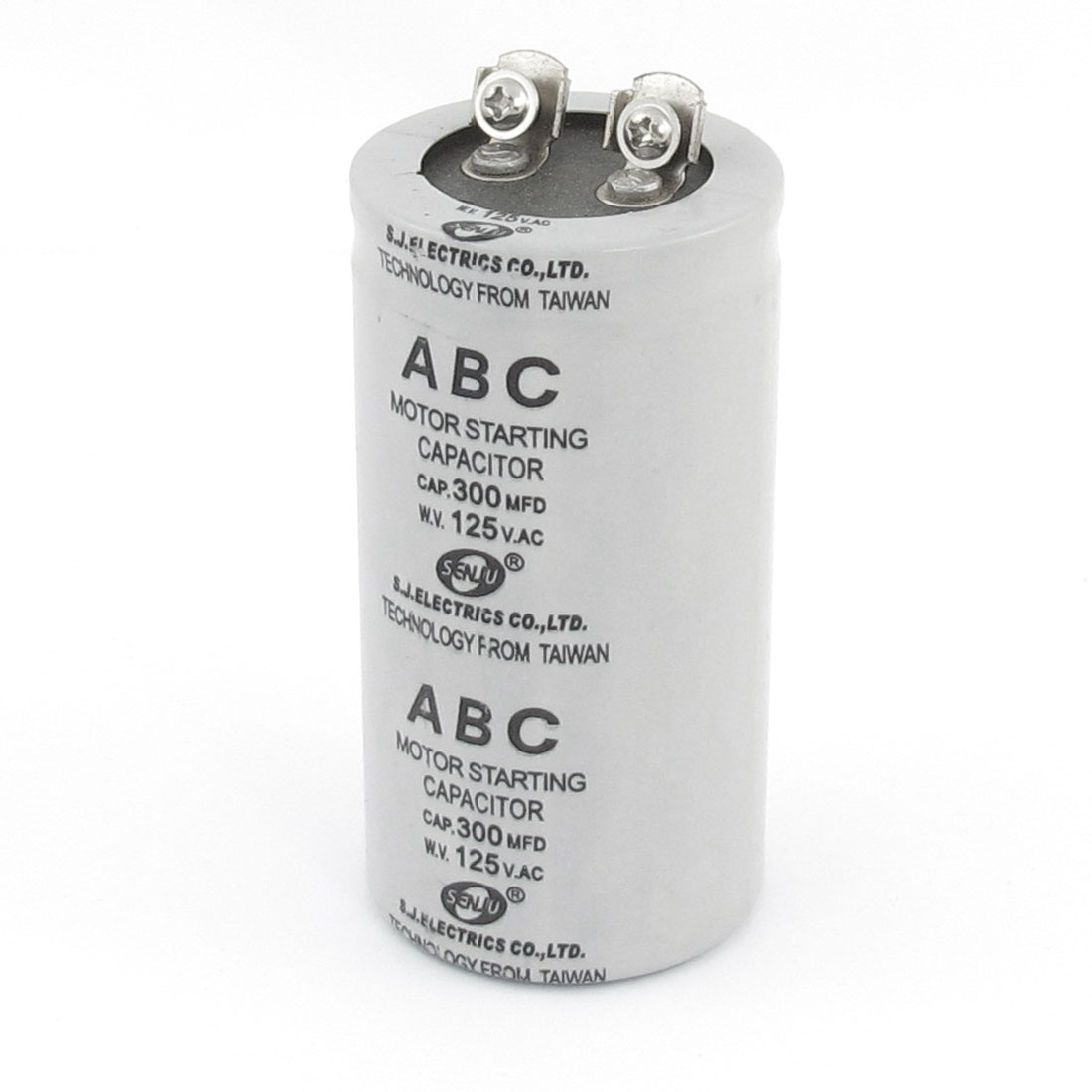 AC 125V 300MFD Dual Terminals Polypropylene Film Motor Start Capacitor