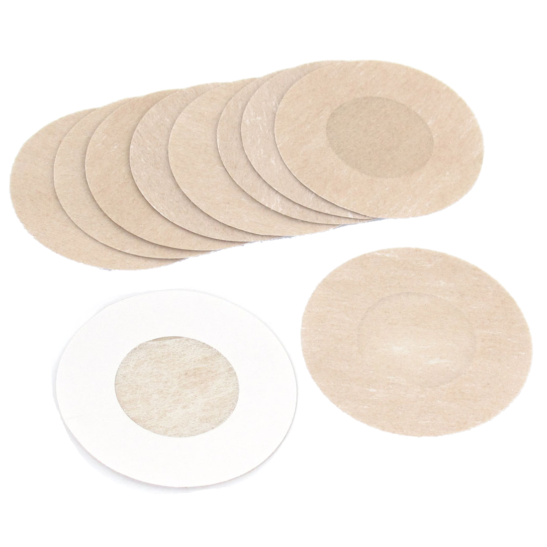"5 Pairs 2.4"" Dia Non-Woven Waterproof Adhesive Nipple Pad Cover Beige"