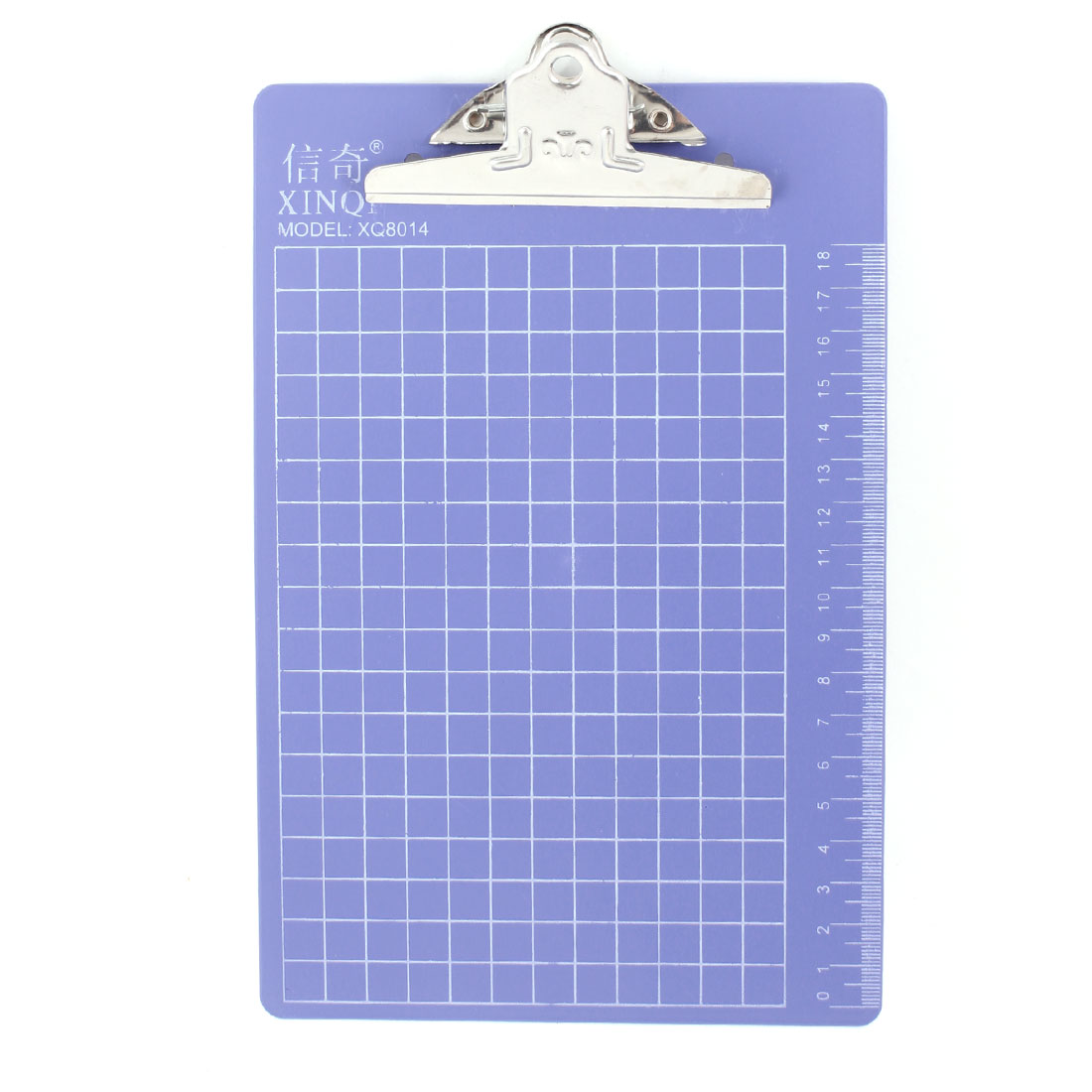 "Checkered Printed Plastic A5 File Menu Paper Clipboard 8.7"" x 6"" Steel Blue"
