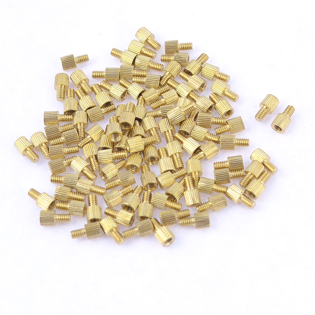 100 Pcs Male Female PCB Thread Brass Pillars Standoff Spacers M2x3mmx6mm