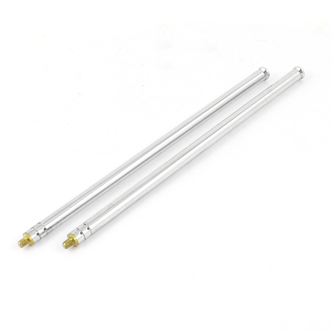 "12.4"" Long TV Radio 3 Sections Rod Telescopic Antenna Aerial for Auto Car 2Pcs"