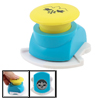 Plastic Shell Swallow Printed Paper Card Craft Punch Stamp Teal Blue Yellow