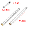 2Pcs Vehicle Car 13.5cm Length 4 Sections Rotating Rod Telescopic Antenna Aerial