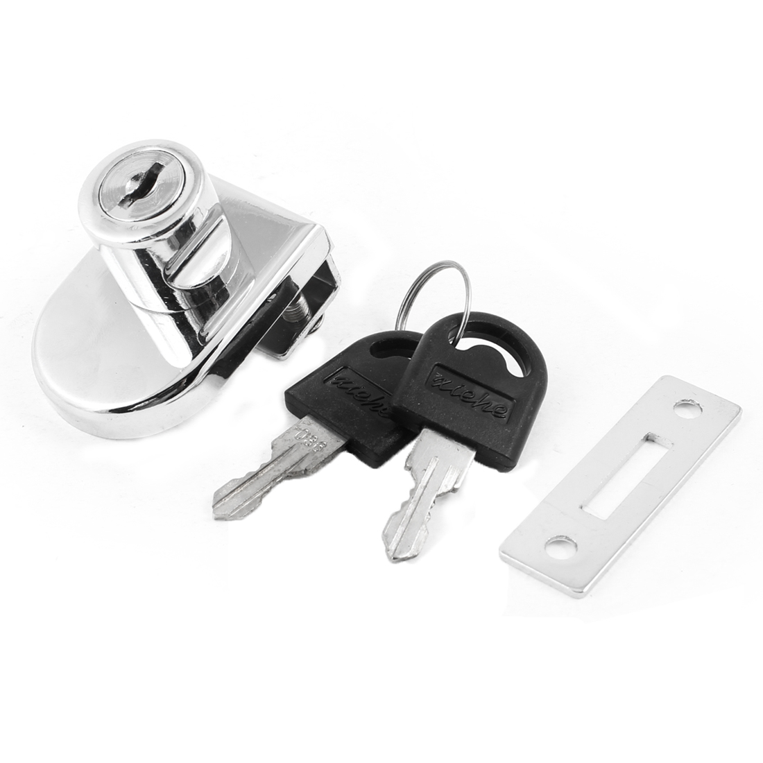 Household Showcase Display Cabinet Glass Door Lock Replacement w Keys