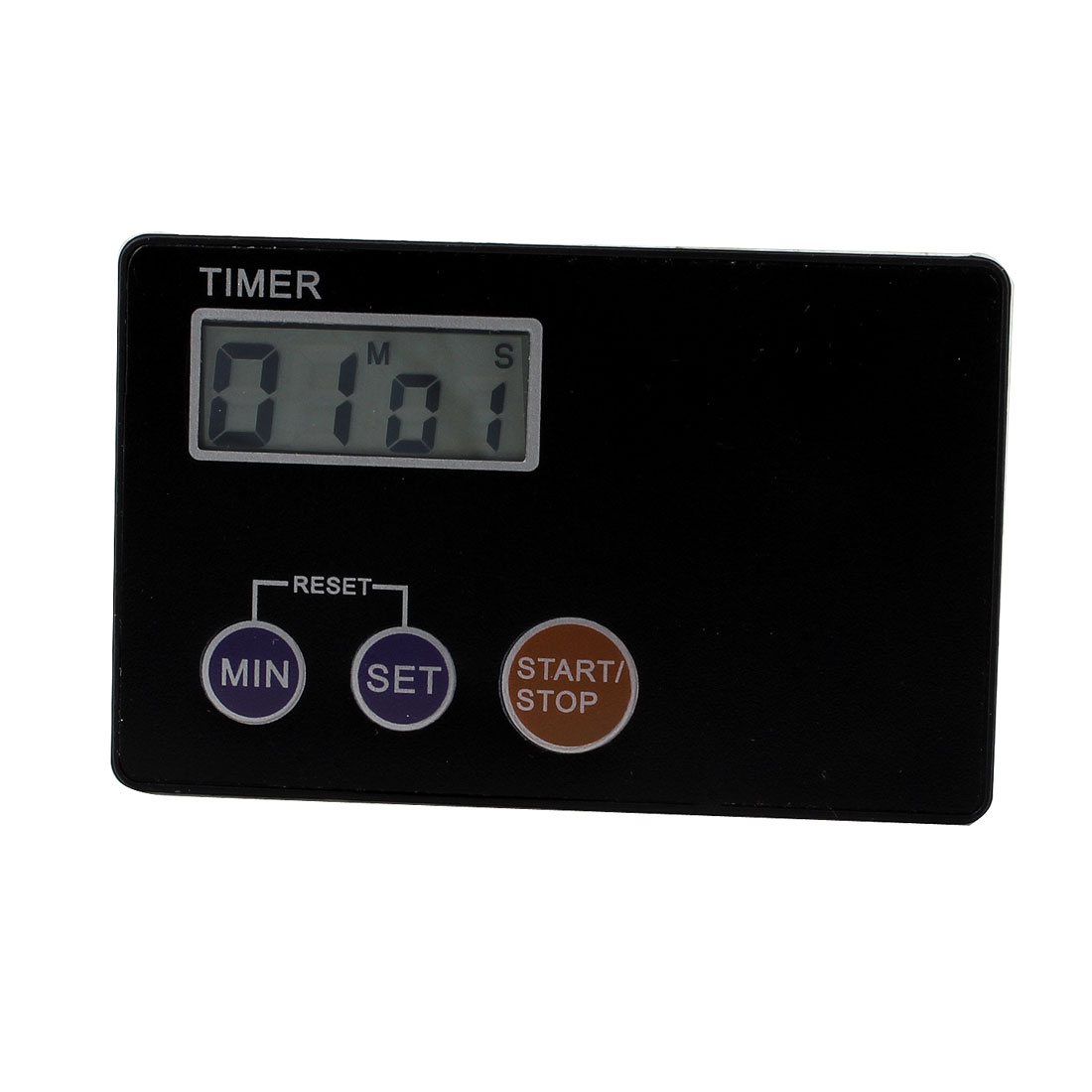 398A Battery Operated Count Down Up LCD Display Alarm Timer Black