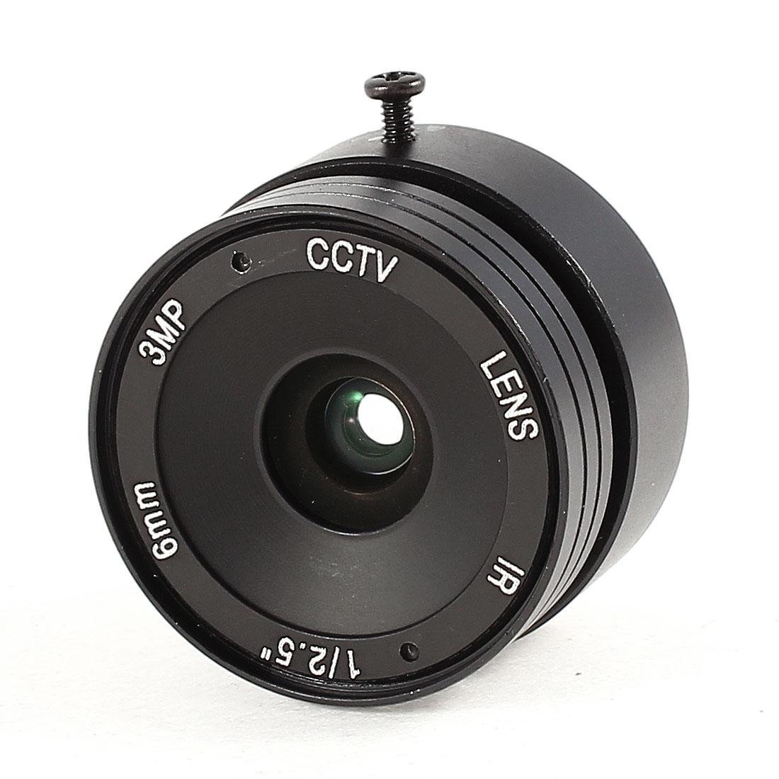 "CCTV Box Camera Fixed 6mm Focus Length F1.4 IR Board Lens 1/2.5"""