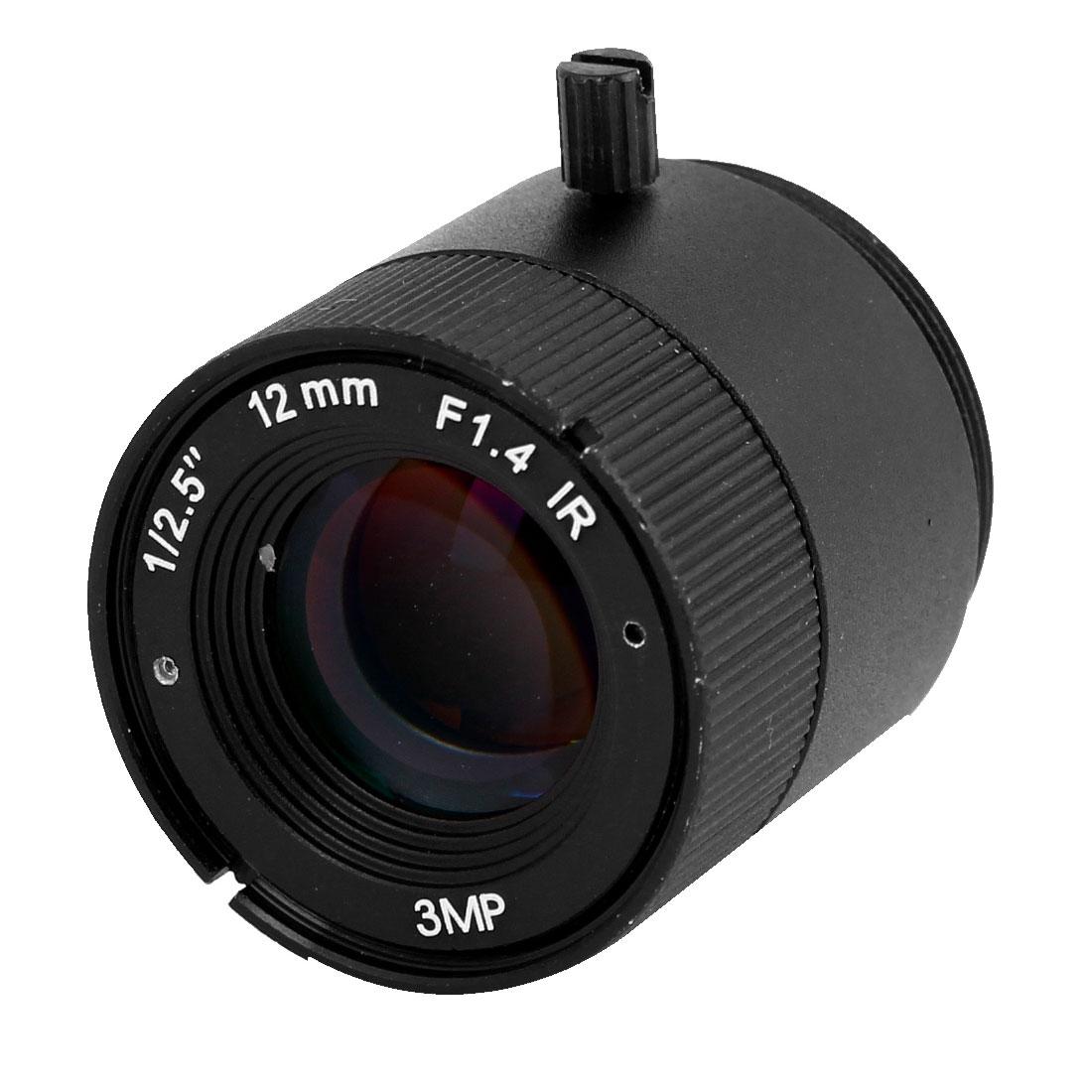 "CCTV Box Camera Fixed 12mm Focus Length 1/2.5"" 3MP IR Board Lens F1.4"